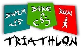 Triathlonpiktogramm Lizenzfreies Stockfoto