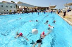 Triathlonrosa färger i Gold Coast Australien Royaltyfri Fotografi