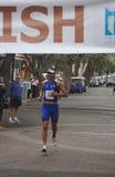 Triathlonsieger stockfoto