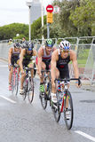 Triatlon Barcelona die - cirkelen Royalty-vrije Stock Fotografie