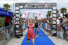 Triatlon Cesenatico 2017 royalty-vrije stock foto's