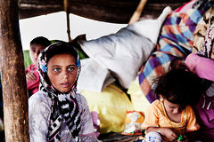 Tribù del nomade di Khamsheh Fotografia Stock