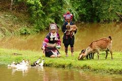 Tribù della collina di Akka fotografie stock libere da diritti