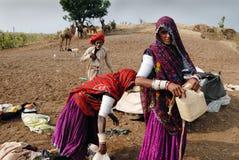 TRIBÙ DI BANJARA IN INDIA Immagini Stock Libere da Diritti