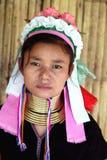 Tribù lunga del collo in Tailandia Immagini Stock Libere da Diritti