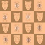 Triba ethnicl naadloos patroon Het kan voor doek, zakken worden gebruikt, Stock Afbeeldingen