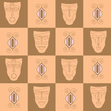 Triba ethnicl seamless pattern. It can be used for cloth, bags, Stock Images