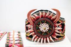 Tribais Ainu handcraft o bracelete, Shiraoi - Hokkaido - Japão fotos de stock royalty free