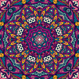 Tribal abstract floral mandala seamless pattern Stock Images