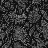 Tribal abstract native chalkboard seamless pattern Royalty Free Stock Image