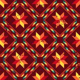 Tribal abstract seamless pattern aztec geometric Royalty Free Stock Photos