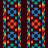 Tribal abstract seamless pattern aztec geometric Stock Photos