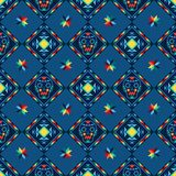 Tribal abstract seamless pattern aztec geometric Stock Photography
