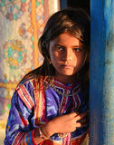 Tribal Adolescent. Portrait of an adolescent girl at the remote village of Gujarat Royalty Free Stock Image