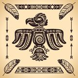 Tribal american eagle sign Royalty Free Stock Image