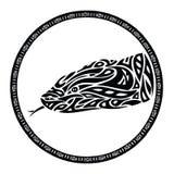 Tribal anaconda snake tattoo. Vector illustration of anaconda snake - tattoo Stock Images