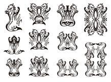 Tribal animal symbols Royalty Free Stock Photography