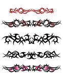 Tribal ankle tattoo design set Royalty Free Stock Photo