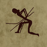 Tribal archer Stock Images