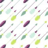 Tribal arrow seamless pattern. Royalty Free Stock Photo