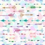 Tribal arrows boho seamless pattern Stock Image