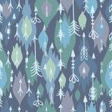 Tribal arrows boho seamless pattern Stock Images