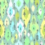 Tribal arrows boho seamless pattern Royalty Free Stock Photography