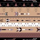 Tribal arrows boho seamless pattern. Ethnic geometric print. Background texture. Stock Photography