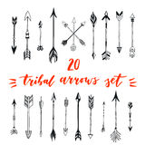 Tribal arrows set. Different native american arrows collection. Decorative vector stylized illustration of booms. Design elements Stock Image