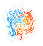 Tribal art. Decorative abstraction with artistic tribal art elements Stock Photo