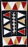 Tribal  art. Tribal craft, traditional african motifs painted on rugged textile Royalty Free Stock Photography
