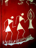 Tribal Art. On a red tribal house door Stock Photo