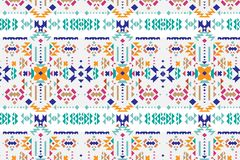 Tribal art ethnic seamless pattern. Folk abstract geometric texture. vector illustration
