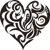 Tribal art heart Royalty Free Stock Photo