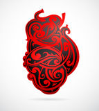 Tribal art heart shape Stock Photography