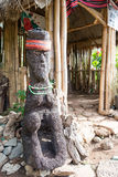 Tribal Art Sculpture. Ancient art sculpture of a tribal group in Baguio Stock Image