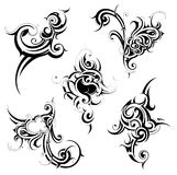 Tribal tattoo set Royalty Free Stock Photos