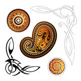 Tribal tattoo elements Royalty Free Stock Photos
