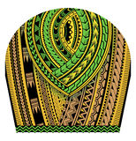 Tribal art tattoo ornament. Tribal tattoo colorful ornament as sleeve body art Royalty Free Stock Images