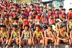 Free Tribal Artists And Onlookers At The Venue Of Hornbill Festival Royalty Free Stock Photos - 126981358