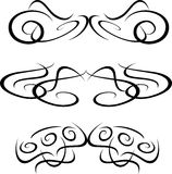 Tribal Artwork tattoo Collection element isolated. Set of Artwork tattoo Collection element isolated on white Stock Image