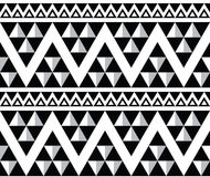 Tribal aztec abstract seamless pattern Royalty Free Stock Photography