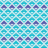 Tribal aztec blue and purple squares seamless pattern Royalty Free Stock Image