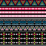 Tribal aztec colorful seamless pattern Royalty Free Stock Images