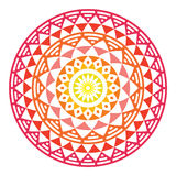 Tribal Aztec geometric pattern or print in circle - ombre Royalty Free Stock Photo