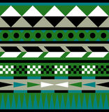Tribal Aztec Pattern of Earth Colors - Illustration. Ethnic pattern in tribal style Stock Images