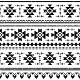 Tribal aztec  retro seamless pattern Stock Photography