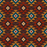 Tribal Aztec Seamless Pattern on the wool knitted texture Stock Photo