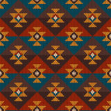Tribal Aztec Seamless Pattern on the wool knitted texture Stock Image