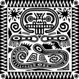Tribal Aztec Tile royalty free stock image